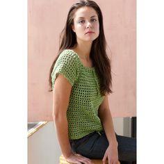 Mesh Raglan Pullover Crochet Pattern by Lion Brand Black Crochet Dress, Crochet Jacket, Crochet Blouse, Crochet Crafts, Free Crochet, Knit Crochet, Crochet Summer Tops, Crochet Tops, Crochet Sweaters