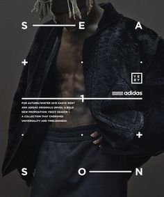 Poster 4 for autumn/winter 2015 Kanye West and Adidas Originals collection «Yeezy Season 1 Web Design, Book Design, Layout Design, Print Design, Graphic Design Posters, Graphic Design Typography, Typography Inspiration, Graphic Design Inspiration, Kanye West