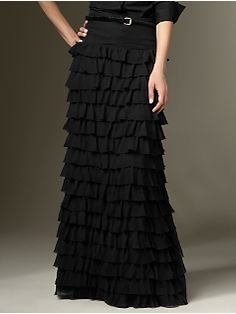 I have this skirt but in black lace.  One of my favorites!