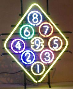 Eight Ball Pool Billiads Neon Sign