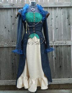 Dr Who Dress Steampunk Jacket Bustier and Skirt via Etsy have the pattern she used
