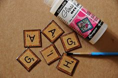 What A Beautiful Mess: FAUX SCRABBLE LETTERS TUTORIAL