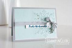 Stampin' Up!, StampinClub, Tannenzauber, Christmas Pines, Textured Impressions Prägeform Schneekristall, Winter Wonder Textured Impressions Embossing Folder