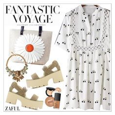 """""""Zaful"""" by teoecar ❤ liked on Polyvore featuring H&M, Roberto Cavalli and zaful"""