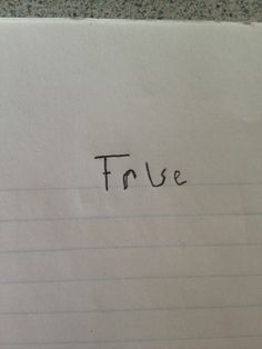 "And this visionary who has found a foolproof response to any ""true or false"" question. 