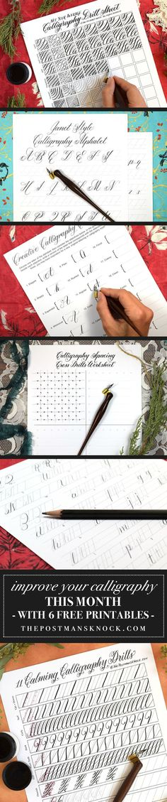 6 Free Printables That Will Improve Your Calligraphy This Month | The Postman's Knock