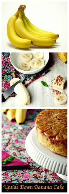 Rich and moist cake with caramelized #bananas with cinnamon on top. The #upsidedown technique gives the cake a nice and clean finish. Learn step by step how to make this incredible moist #bananacake!