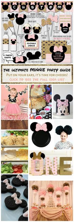THE ULTIMATE MINNIE MOUSE PARTY GUIDE - Throw the sweetest blush pink & gold Minnie WonderBash