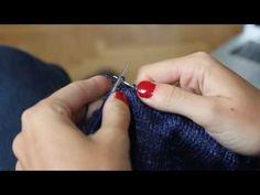 La méthode continentale (3) : tricoter la maille endroit - YouTube