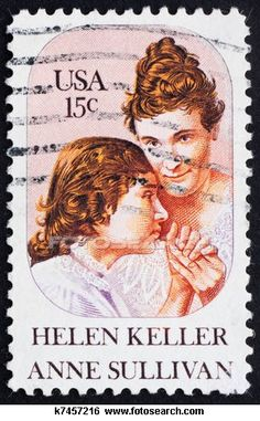 Postage stamp USA 1980 Helen Keller and Anne Sullivan