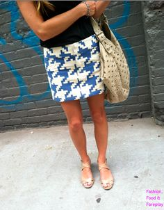 Houndstooth Blue. Great pattern for work!