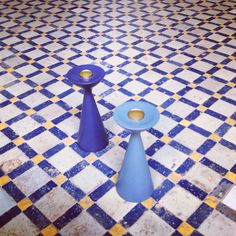 Candle holder Inga™ by freemover.se designer Maria L Dahlberg on hand made Moroccan tile