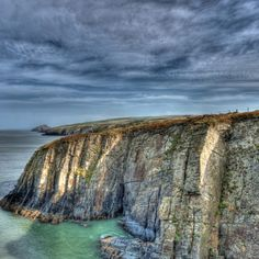 Cardigan Bay cliffs it's truly stunning here - we've seen dolphins swimming in the sea here - just amazing