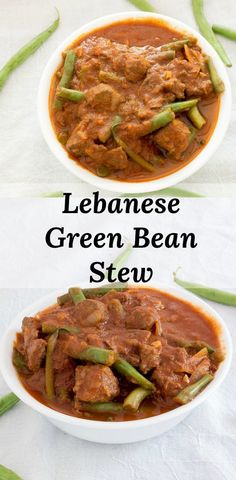 Low Unwanted Fat Cooking For Weightloss Lebanese Green Bean Stew Recipe - Sometimes Called Lebanese Lubee. Warm Spiced, Gluten-Free, Beef And Green Bean Dish Simmered In Tomato Sauce. Stew Meat Recipes, Pork Recipes, Veggie Recipes, Dinner Recipes, Sauce Recipes, Chicken Recipes, Lebanese Stew Recipe, Lebanese Recipes, Green Bean Stew Recipe