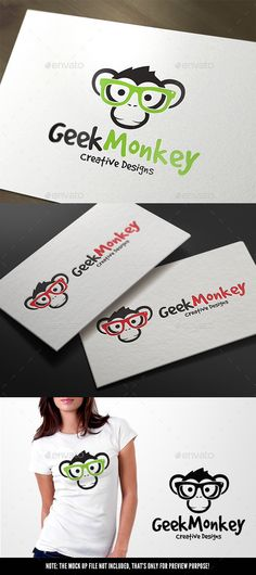Geek Monkey Logo Template PSD, Vector EPS, AI #logotype Download: http://graphicriver.net/item/geek-monkey/11445063?ref=ksioks