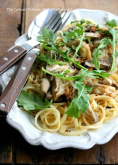 Mushroom Arugula Pasta