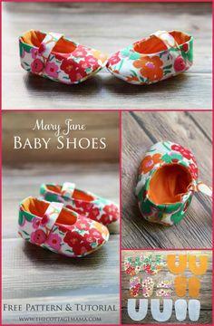 handmade Mary Jane baby shoes