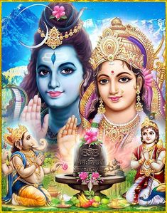 Lord Shiva Mathe Parvathi Ganesh and karthikey 🙏🙏😘 Shiva Shakti, Shiva Parvati Images, Durga Images, Lord Shiva Hd Images, Shiva Hindu, Shiva Art, Hindu Deities, Hindu Art, Om Namah Shivaya