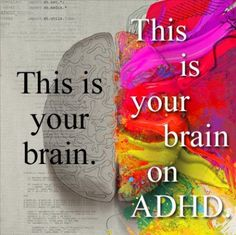 Attention-Deficit/ Hyperactivity Disorder (ADHD) *A disorder that affects concentration and focus. Common symptoms are over-activity distractibility, impulsivity, inability to focus or sit still. Adhd Odd, Adhd And Autism, Adhd Quotes, Adhd Brain, Brain Stem, Adhd Help, Adhd Strategies, Attention Deficit Disorder, Adult Adhd