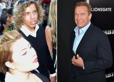 Arnold Schwarzenegger Brings Love Child,Joseph Baena who looks like a mirror of young Arnold, to Movie Premiere