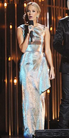 carrie underwood gold dress | 1000+ images about Carrie Underwood on Pinterest | Craft supplies, Red ...