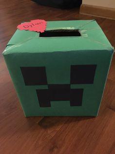 Minecraft Creeper Valentineu0027s Box!