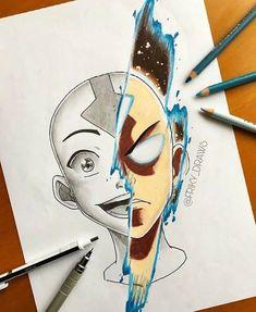 [FRIKY] Avatar Aang 🌪🌊☄️🔥 personal fanart. Hope you like 🌬
