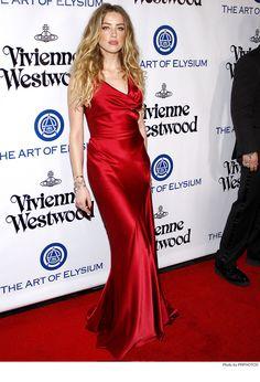 Amber Heard wearing Vivienne Westwood Red Dress - 2016 The Art Of Elysium Heaven Gala