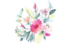 Dans cet article, je vous donne une foule d'astuces pour créer vos bouquets à l'aquarelle. Inclus: mes fiches process pour apprendre à composer une palette.