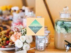 Ciro-Andreas Buono on Behance. beach wedding, candy bar, wedding, lemonade, cake pops, mint, peach, orange