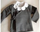 Scaldacuore in felpa di cotone per bambina disponibile in diversi colori : Moda bambina di bebi-on-line