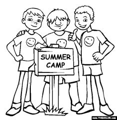 Summer Coloring Pages | Summer Camp Coloring Page | Free Summer Camp Online Coloring