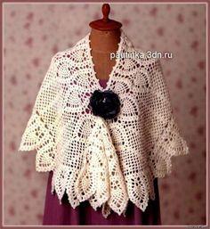 shawl boho shawl romantic shawl by crochetmagicacc on Etsy