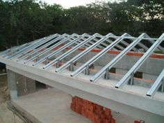 Roof frame and materials used for that purpose are of giant importance best online engineering resource Building Systems, Building Design, Steel Framing, Roof Truss Design, House Cladding, Steel Frame Construction, Roof Trusses, Roof Detail, Roof Plan