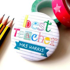 Personalised 'Best Teacher' Magnet Or Badge Gift - jewellery