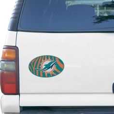 "Miami Dolphins Zebra 6"" x 6"" Oval Full Color Magnet - $5.99"