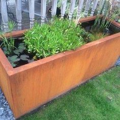 Corten Steel trough planters from Garden House Design in Sussex. A stunning enhancement to any outdoor space. Plant Troughs, Trough Planters, Water Trough, Decking Area, Garden Design, House Design, Water Features In The Garden, Corten Steel, Outdoor Furniture