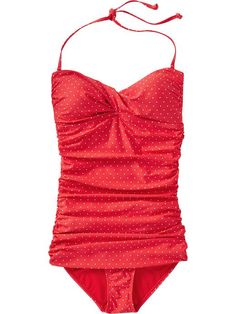 Old Navy | Women's Polka-Dot Control Max Bandeau Swimsuits