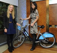 Christine Bleakley and Laura Trott at the Bicycle Film Festival launch.