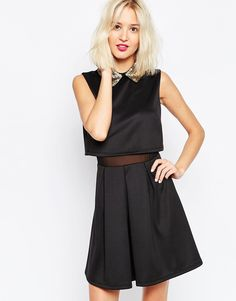 Buy ASOS Embellished Beaded Collar Skater Dress at ASOS. Get the latest trends with ASOS now. Asos, White Cocktail Dress, Cocktail Dresses, Kohls Dresses, Beaded Collar, Models, Embellished Dress, Skater Dress, Outfits