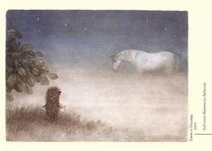 Hedgehog in the Fog - illustration by Francesca Yarbusova