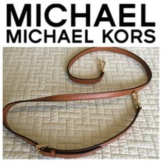 NEW Michael Kors Shoulder Strap Brand new, never used!!! Luggage soft genuine leather shoulder strap with adjustable buckle detail. Michael Kors logo on the buckle and hooks. Gold hardware. 100% authentic guaranteed Michael Kors Bags