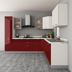 Cream Colour Modualr Kitchen Design  U Shaped Modular Kitchen Gorgeous Modular Kitchen U Shaped Design Design Decoration