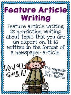 FEATURE ARTICLE WRITING UNIT - TeachersPayTeachers.com
