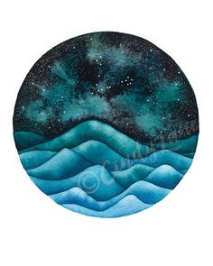 The Pisces Constellation above an ocean of by TheSeasideStudios