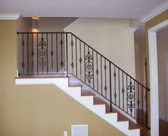 Wrought Iron Stair Rail with #33 Designs and Decorative Pickets