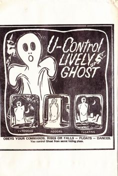 Vintage Original Johnson Smith Company 7 Foot U-Control Ghost-Comic Book Novelty