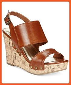 f9ad29326 Material Girl Mona Platform Wedge Sandals Cognac 8.5M - Sandals for women  ( Amazon