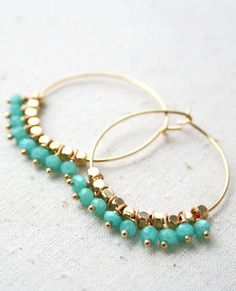 Pastel Hoop Earring, Summer Earrings, Bohemian Jewelry                                                                                                                                                                                 More