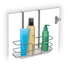 Lynk 601100 Over Cabinet Door Organizer Tall Shelf with Molded Tray, Chrome by Lynk. $13.00. Elegant square steel design for added strength and a unique style;No hardware required. Soft rubber padding protects door surfaces. Durable molded tray protects cabinet from drips and spills;keeps even the smallest items stable;removable for easy cleaning. Measures 11 wide by 4.3 deep by 11.4 high inches. Securely fits over any cabinet door for organizing kitchen, bath, and laundry cabine...